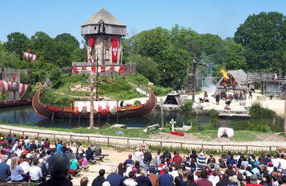 Espectáculo 'Los vikingos' en Puy du Fou.