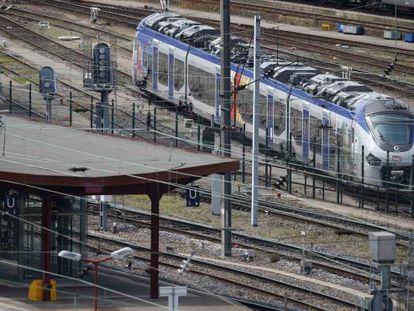 Uno de los nuevos trenes, en la estación de Estrasburgo.