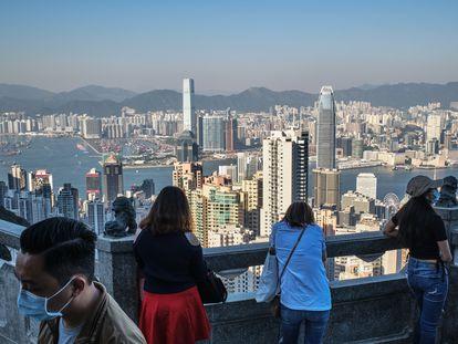 Vista reciente del 'skyline' de Hong Kong, una de las mayores concentraciones de hormigón, metal y cristal del planeta.