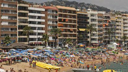 Una playa de Lloret de Mar, en una imagen de archivo.