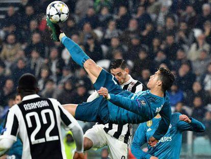 Cristiano marca el segundo gol del Real Madrid al Juventus de chilena.