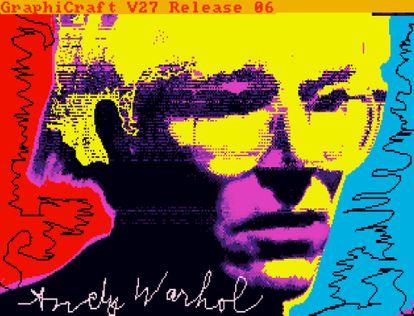 El autorretrato digital de Andy Warhol, creado con un ordenador Commodore en 1985, se ha subastado este jueves en Christie's por 574.000 euros.