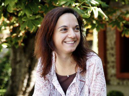 Sara Hernández, en el parque del Retiro.