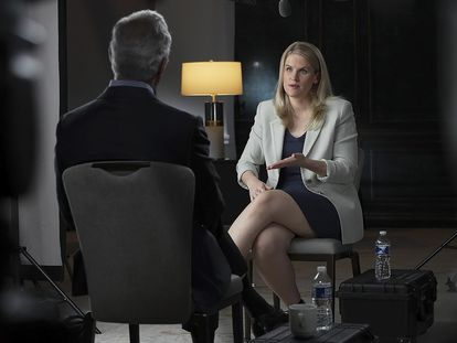 Frances Haugen, en su entrevista en '60 minutes'.