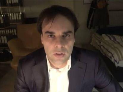 Captura de pantalla de un supuesto vídeo de Tobias R, presunto autor del asesinato de nueve personas en Hanau.