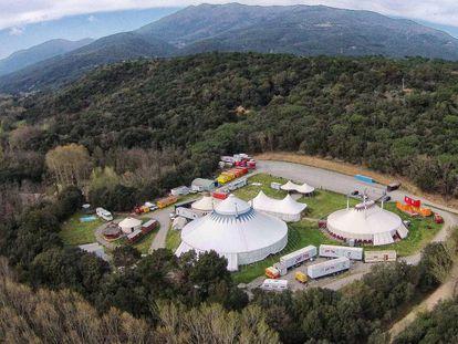 Espacio que ocupan las carpas del Circ Cric en el Montseny.