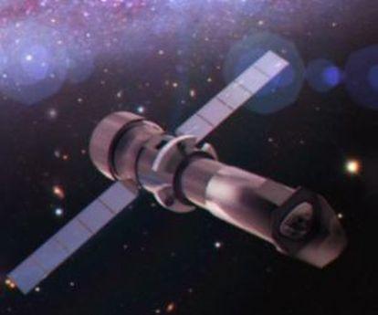 Ilustración del futuro telescopio espacial de rayos X Athena.