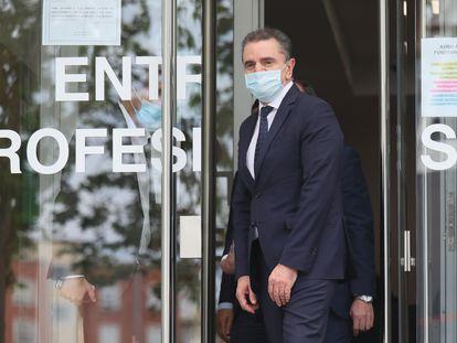El delegado del Gobierno en Madrid, José Manuel Franco, a su salida tras declarar ante la juez de Madrid, Carmen Rodríguez-Medel.