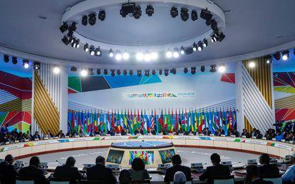 Sesión plenaria de la cumbre Rusia - África celebrada en Sochi.