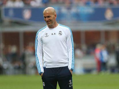 Zidane durante el entrenamiento.