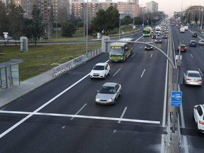 La A-5 el día de la entrada en funcionamiento de los semáforos, el pasado 26 de febrero.