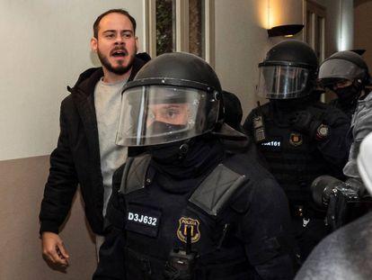 Hasél detenido en Lleida.