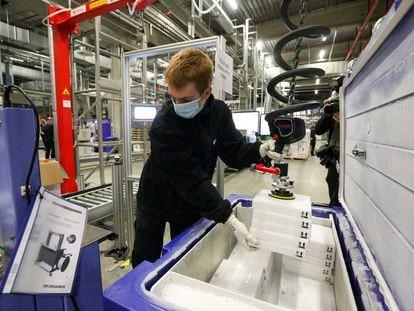 Fábrica de vacunas contra la covid19 Pfizer en Puurs, Bélgica, a finales de febrero.