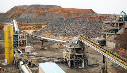 Mina de oro de Semafo, en Boungou, en el este de Burkina Faso.