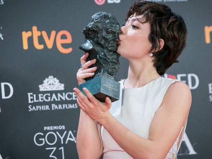 Anna Castillo, ganadora del Goya a la actriz revelación por su papel en 'El Olivo'.