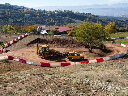 Trabajos en Alfacar (Granada) en 2014 de búsqueda de los restos de Federico García Lorca.