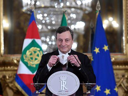Mario Draghi, este viernes en Roma.