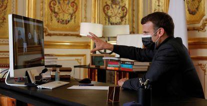 El presidente de la República francesa, Emmanuel Macron.