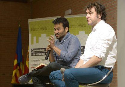 El consejero de Educación, Vicent Marzà, y el director general de Política Lingüística, Rubén Trenzano.