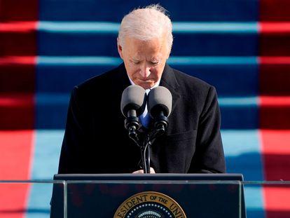 El presidente de EE UU, Joe Biden, durante su toma de posesión.