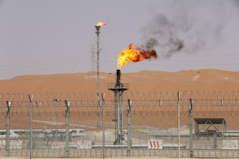 El pozo petrolero de Shaybah, propiedad de Saudi Aramco, en una imagen de mediados de 2018.