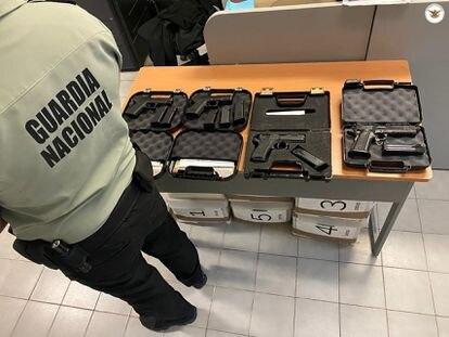 Un operativo de la Guardia Nacional contra el tráfico de armas en Sonora.