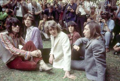 Los Rolling en Hyde Park, Londres, en 1969.