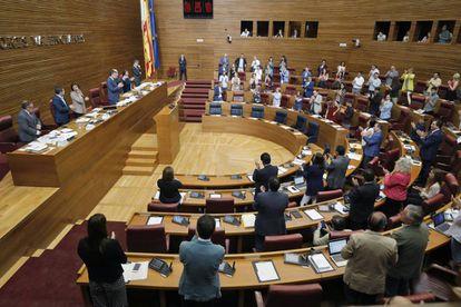 Pleno de las Cortes Valencianas, este miércoles.