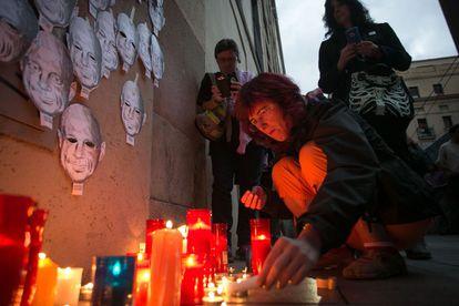 Concentración en recuerdo de Juan Andrés Benítez en Barcelona.