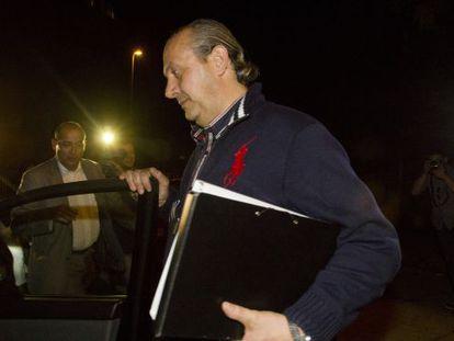 Jorge Dorribo, tras declarar en el juzgado.