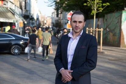 El experto en yihadismo Montasser AlDe'emeh, el 27 de abril en Molenbeek.