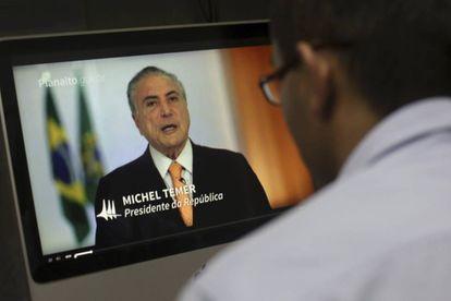 El presidente brasileño, Michel Temer, se defiende en televisión de las docenas de nuevas acusaciones de corrupción que recibió su gobierno la semana pasada