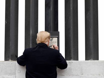 La visita de Trump al muro fronterizo, en imágenes