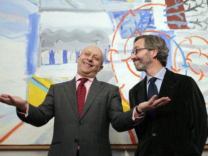 El ministro Wert, a la derecha, junto a José María Lassalle