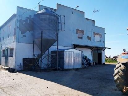 Granja de Roales de Campos (Valladolid), donde un matrimonio explotaba a migrantes sin papeles.