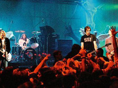 Nirvana, en un concierto organizado por MTV, en diciembre de 1993.