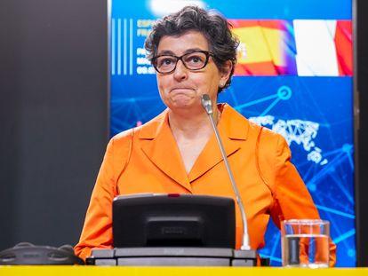 La exministra de Asuntos Exteriores, Arancha González Laya, en un acto celebrado el pasado julio.
