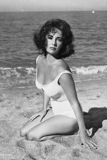 La ganadora de dos <i>oscars</i>, en el rodaje de <i>De repente, el último verano,</i> del director Joseph L. Mankiewicz, en 1959.