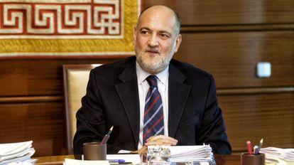 Francisco Pérez de los Cobos Orihuel, presidente del Tribunal Constitucional