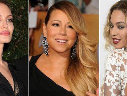 Angelina Jolie, Mariah Carey y Beyoncé.