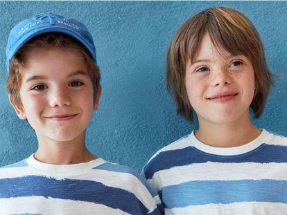 Diego y Roscón (a la derecha), los dos hijos de Samantha Vallejo-Nágera posando para la campaña de Zara.