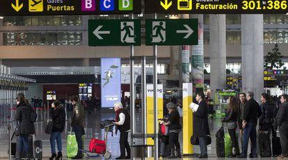 Facturación en la terminal T3 del Aeropuerto de Malaga.