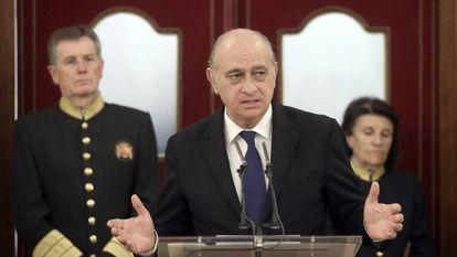 El exministro Jorge Fernández Díaz, el pasado octubre, en el Congreso.