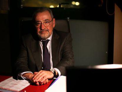El presidente de la patronal autonómica Cierval, José Vicente González, en su nuevo despacho en Feria Valencia.