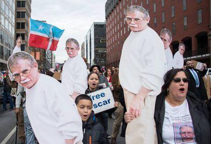 Marcha por la libertad de López Rivera en Washington el 11 de enero.