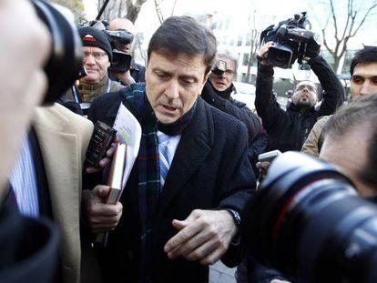 Eufemiano Fuentes entrando al juzgado en 2013