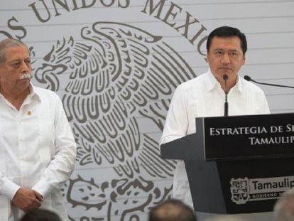El gobernador de Tamaulipas y el ministro de Gobernación.