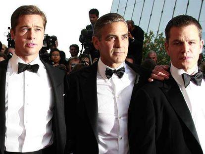 Brad Pitt, George Clooney y Matt Damon, en el último festival de Cannes.