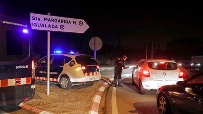 Confinamiento de Igualada (Barcelona), el 12 de marzo de 2020, justo antes de que el Gobierno decretara el estado de alarma.