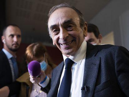 Eric Zemmour participaba en una firma de libros en París, el pasado día 4.